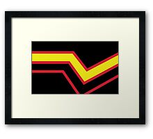 Black Red Yellow Stripe Rubber Latex Pride Flag Framed Print