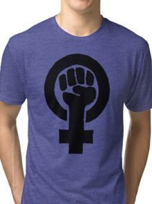 Black Woman Power Fist Tri-blend T-Shirt