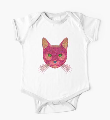 Rose Hungry Cat One Piece - Short Sleeve