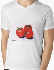 Cherry Tomatoes Mens V-Neck T-Shirt