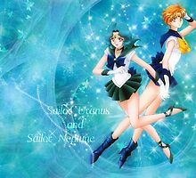 Sailor Uranus Sailor Neptune Hands Embraced by m0nkeysp7ce