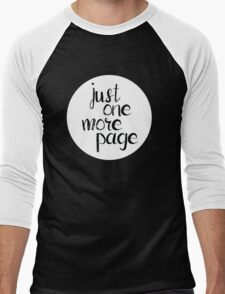 Just One More Page Men's Baseball ¾ T-Shirt