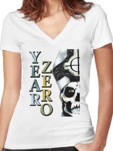 YEAR ZERO Women's Fitted V-Neck T-Shirt