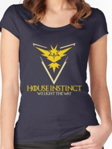 House Instinct (GOT + Pokemon GO) Women's Fitted Scoop T-Shirt