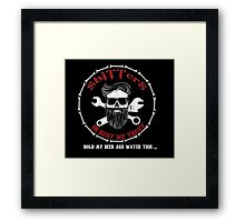 Shitters Beard Man Hold My Beer Framed Print