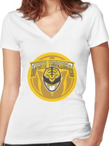 Tiger-Zord Power Now Women's Fitted V-Neck T-Shirt