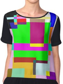 Colourfull Rectangle Madness Chiffon Top