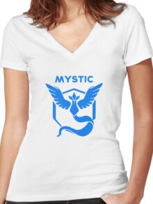 Mystic Pokemon GO Women's Fitted V-Neck T-Shirt