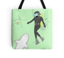 Farting Diver! Tote Bag