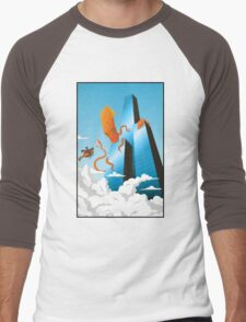 SquidZilla Men's Baseball ¾ T-Shirt