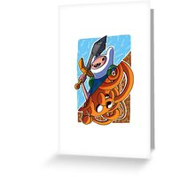 Adventure Time Jack and Finn Greeting Card