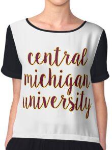 Central Michigan University Chiffon Top