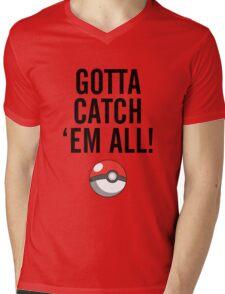 POKEMON GO CATCH THEM ALL Mens V-Neck T-Shirt