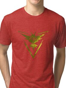 Team Instinct Pokemon Go Tri-blend T-Shirt