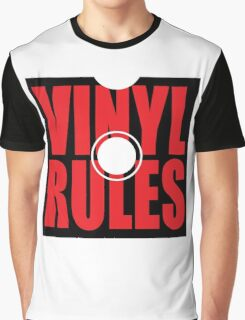 Vinyl Rules 2 Music Quote Graphic T-Shirt