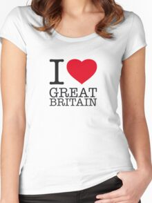 I ♥ GREAT BRITAIN Women's Fitted Scoop T-Shirt