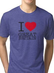 I ♥ GREAT BRITAIN Tri-blend T-Shirt