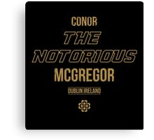 The Notorious | Gold Canvas Print