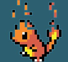 Pixel Charmander by Arry