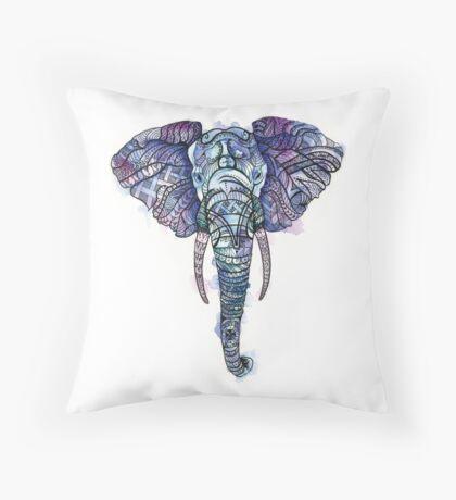 Safari Elephant Throw Pillow
