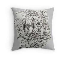 poseidon's wave Throw Pillow