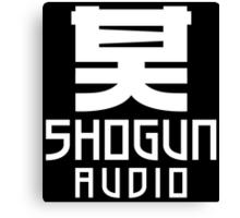 SHOGUN AUDIO WHITE Canvas Print
