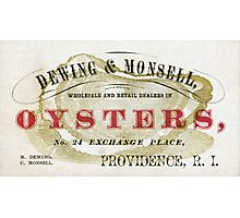 Vintage Oyster Dealers Photographic Print
