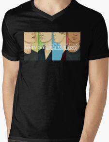 Girls Talk Boys Mens V-Neck T-Shirt