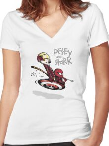 Uncivil Heroes Women's Fitted V-Neck T-Shirt