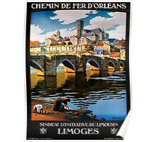 Limoges, French Travel Poster Poster