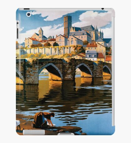 Limoges, French Travel Poster iPad Case/Skin
