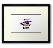 BlitzBall - Ronso Fangs Framed Print
