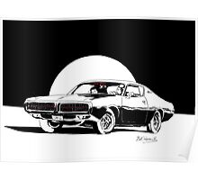 1972 Dodge Charger - Little Black Dress Poster