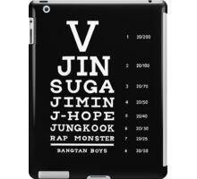 BTS Eye Chart - White iPad Case/Skin