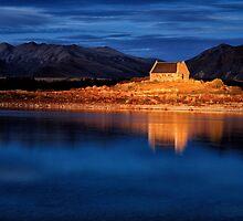 Church of the good shepherd, Lake Tekapo by Colin White