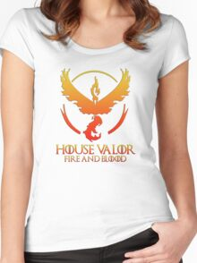 House Valor (GOT + Pokemon GO) Special vers. Women's Fitted Scoop T-Shirt