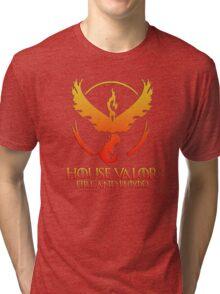 House Valor (GOT + Pokemon GO) Special vers. Tri-blend T-Shirt
