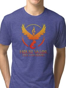 House Valor (GOT + Pokemon GO) Special vers. Tri-blend T-Shirt