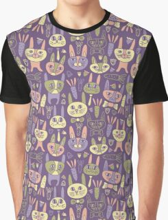 Funny Bunnies Violet Graphic T-Shirt