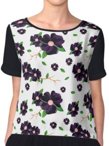 Coloured floral pattern Chiffon Top