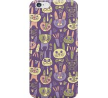 Funny Bunnies Violet iPhone Case/Skin