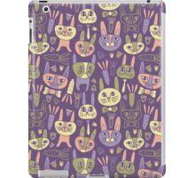 Funny Bunnies Violet iPad Case/Skin