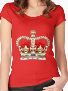 St. Edward's Crown - British Royal Crown  Women's Fitted Scoop T-Shirt