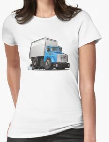 Cartoon delivery or cargo truck Womens Fitted T-Shirt