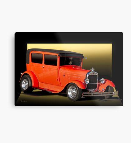 1929 Ford Model A Tudor Sedan Metal Print