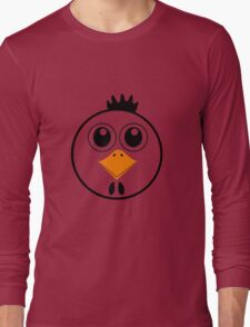 chicken with Yellow nose Cartoon animation Long Sleeve T-Shirt