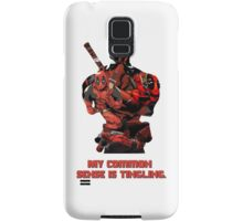 "Deadpool ""My Common Sense Is Tingling."" Samsung Galaxy Case/Skin"