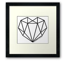 #AllHeartGillian - Black Wireframe Framed Print