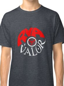 Team Valor RVA - Pokeball Version Classic T-Shirt