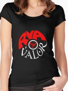 Team Valor RVA - Pokeball Version Women's Fitted Scoop T-Shirt